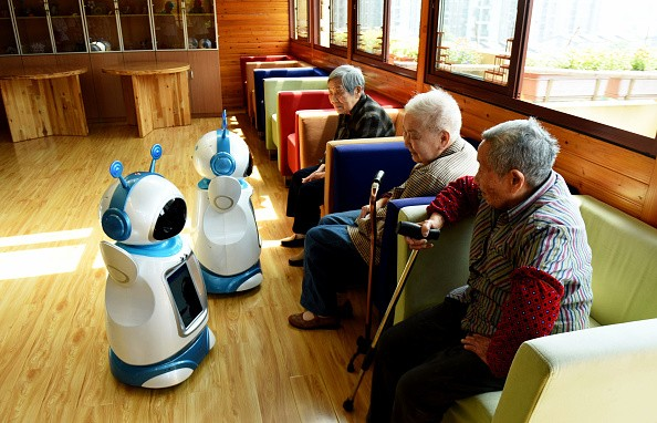 Companion robots help solve another problem in China--the nation's aging population.