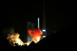 China's data relay satellite, Tianlian I-04, lifts off from the Xichang Satellite Launch Center in Xichang, Sichuan Province, on Nov. 22.