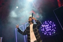 Wiz Khalifa performs onstage at Pencils of Promise 6th Annual Gala 'A World Imagined' at Cipriani Wall Street on October 26, 2016 in New York City.
