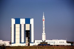 The Shenzhou 11 manned spacecraft at the Jiuquan Satellite Launch Center.