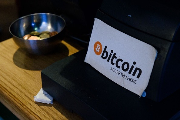 An establishment in Ireland that uses Bitcoin for payment displays a signage for customers.