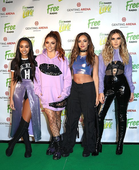 Little Mix members Leigh-Anne Pinnock, Jesy Nelson, Jade Thirlwall and Perrie Edwards attend Free Radio Live 2016 at the Genting Arena, Birmingham, UK.