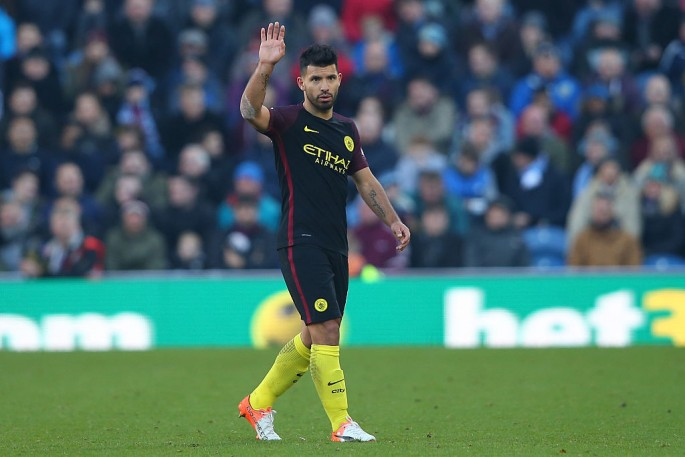 Manchester City striker Sergio Agüero.
