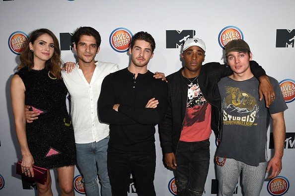 Shelley Hennig, Tyler Posey, Cody Christian, Khylin Rhambo and Dylan Sprayberry arrive at MTV's 'Teen Wolf' and 'Sweet/Vicious' Premiere Event on November 14, 2016 in Los Angeles, California.