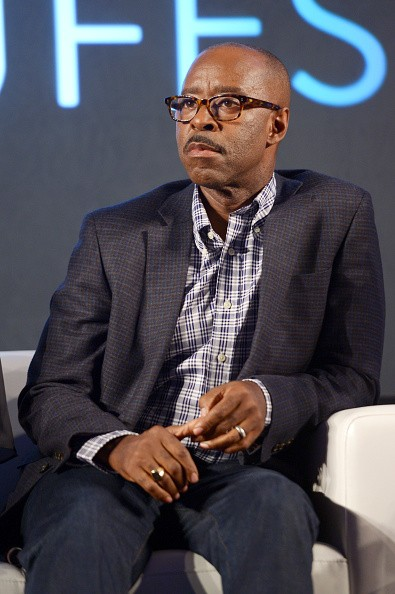 Actor Courtney B. Vance speaks onstage during the 'Stars of Office Christmas Party' panel at Entertainment Weekly's PopFest at The Reef on October 30, 2016 in Los Angeles, California.
