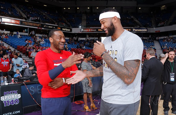 John Wall and DeMarcus Cousins share that they have been talking of teaming up like they did in college all the time.