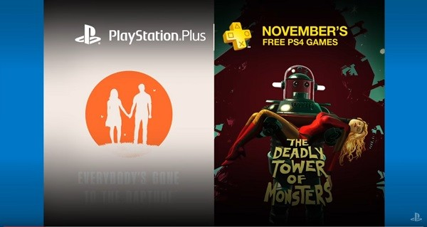 Sony reveals the free PlayStation Plus PS4 games for November.