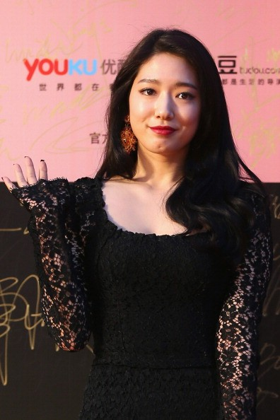 South Korean actress Park Shin Hye arrives for the red carpet of the 17th Shanghai International Film Festival at Shanghai Grand Theatre on June 14, 2014 in Shanghai, China.