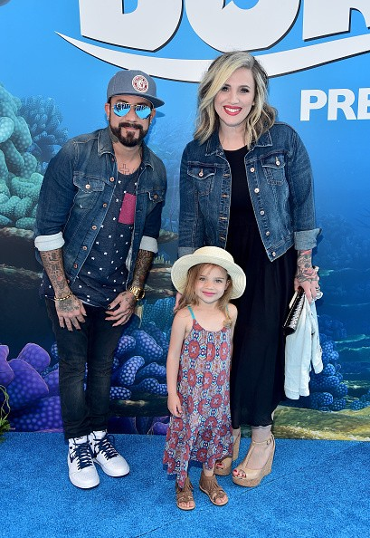 (L-R) Musician A. J. McLean, Ava Jaymes McLean and Rochelle DeAnna McLean attend The World Premiere of Disney-Pixar's FINDING DORY on Wednesday, June 8, 2016 in Hollywood, California.