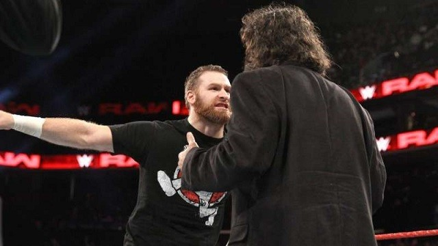 Sami Zayn confronts Mick Foley in the this week's episode of Monday Night Raw.