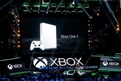 Phil Spencer announces the new Microsoft Xbox One S game console during the Microsoft Xbox news conference at the Galen Center during E3 Gaming Conference on June 13, 2016 in Los Angeles, California.