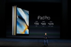 Apple Senior Vice-President of Worldwide Marketing Phil Schiller speaks about the prices for iPad Pro on stage during a Special Event at Bill Graham Civic Auditorium Sept. 9, 2015 in San Francisco, California.