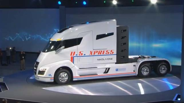Nikola One Hydroen-Electric Truck