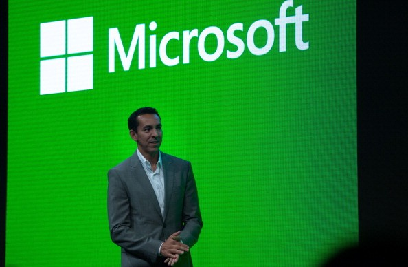 Yusuf Mehdi, VP Marketing and Strategy for Microsoft's Interactive Entertainment Business, speaks during the presentation of the Xbox One in Shanghai in 2014.
