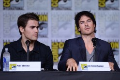 Actors Paul Wesley and Ian Somerhalder attend the 'The Vampire Diaries' panel during Comic-Con International 2016 at San Diego Convention Center on July 23, 2016 in San Diego, California.