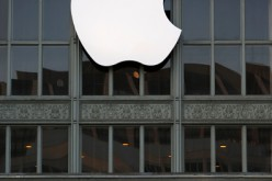 An Apple logo hangs outside Bill Graham Civic Auditorium on Sept. 7, 2016, in San Francisco, California.