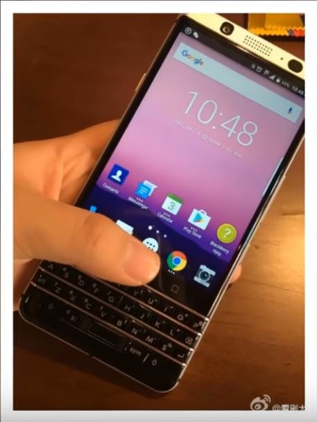 An leaked photo of the upcoming Blackberry Mercury.