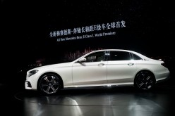 Beijing China Auto-Show featuring the Mercedes-Benz E-Class