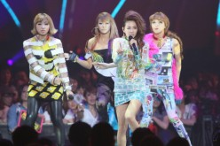 2NE1 performs onstage during the MTV Video Music Awards Japan 2012 at Makuhari Messe on June 23, 2012 in Chiba, Japan.