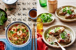 World-class: 100 restaurants in China got recognized on a global scale. (L) Prawn noodles with mint and chili and (R) Chinese eggs with noodles, coriander and alfalfa.
