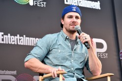 Stephen Amell speaks onstage during the CW Superheroes panel at Entertainment Weekly's PopFest at The Reef on October 29, 2016 in Los Angeles, California