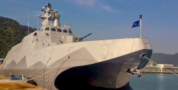 The first of 12 planned Tuo Chiang corvettes for the Republic of China Navy.
