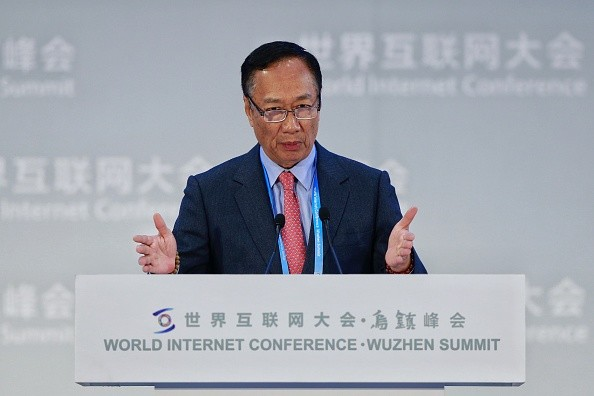 Foxconn Chairman Terry Gou speaks during the World Internet Conference Summit in Wuzhen, Zhejiang Province.