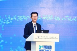 Ma Huateng, chairman of the board and CEO of Tencent, speaks during the 3rd World Internet Conference in Wuzhen, China.