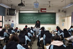 An English class in Jiao Tong University located at the Minhang district in Shanghai, China.