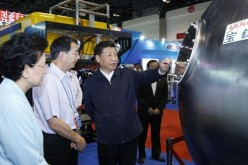 President Xi Jinping visits an exhibition on China's science and technology achievements in June 2016.