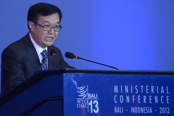 China's Trade Minister Gao Hucheng delivers a speech during the plenary session of the 9th World Trade Organization (WTO) Ministerial Conference in Bali, Indonesia.