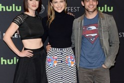 Chyler Leigh, Melissa Benoist, and Jeremy Jordan arrive at The Paley Center For Media's 33rd Annual PALEYFEST Los Angeles 'Supergirl' at Dolby Theatre on March 13, 2016 in Hollywood, California.