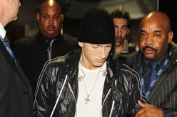 Rapper Eminem walks backstage during the 52nd Annual GRAMMY Awards held at Staples Center on January 31, 2010 in Los Angeles, California.