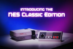 The NES Classic Edition console and its controller on display.