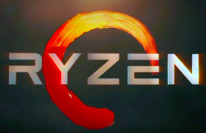 The AMD Ryzen logo is revealed during AMD New Horizon event on Dec. 13, 2016.