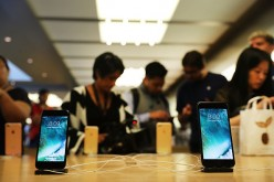 The new iPhone 7 and the 7 Plus are displayed on a table at an Apple store in Manhattan on September 16, 2016 in New York City.