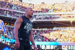 The Rock heads towards the ring at WrestleMania 31 back in 2015.