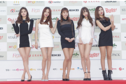 EXID arrive for the 4th Gaon Chart K-POP Awards at the Olympic Park on January 28, 2015 in Seoul, South Korea.