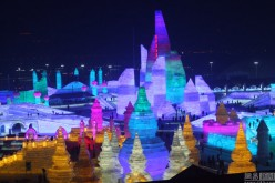 A view of the 33rd Ice and Snow Festival in Harbin.