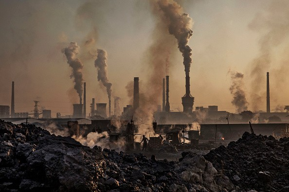 Smoke billows from a steel plant in Inner Mongolia.