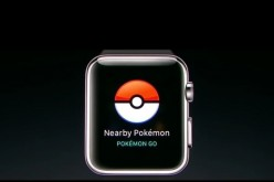 The Pokémon GO app is available for Apple Watch, a line of smartwatches developed by Apple Inc.