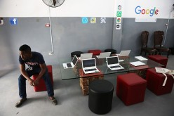 The interior of a studio where Google and Alexis Leiva Machado, a Cuban sculptor known as Kcho, is seen where the technology company and artist have teamed up to bring high speed internet and computers to a small studio space on March 25, 2016 in Havana,