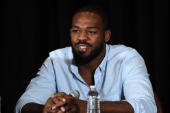 Jon Jones addresses the media at a press conference following him being pulled out of the fight card at UFC 200.
