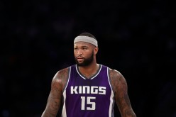 DeMarcus Cousins of the Sacramento Kings looks on against the New York Knicks during the first half at Madison Square Garden on December 4, 2016 in New York City.