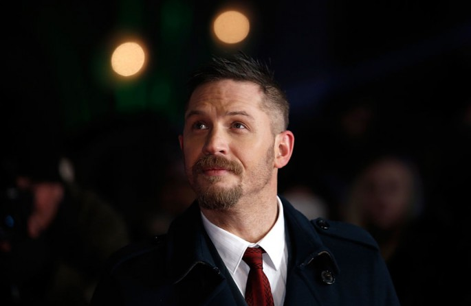 Actor Tom Hardy attends the UK Premiere of 'The Revenant' at the Empire Leicester Square on January 14, 2016 in London, England.