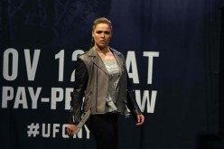 Ronda Rousey made a rare public appearance during the buildup to her fight with Amanda Nunes at the weigh-ins for UFC 207.