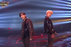 BTS' Jimin and SHINee's Taemin perform at the 2016 KBS Song Festival.