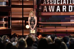 Taylor Swift speaks onstage as she presents an award at the Country Music Awards held last Nov. 2, 2016.