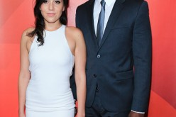 Audrey Esparza and Rob Brown arrive at the NBCUniversal 2015 Summer Press Tour at the Beverly Hilton on August 12, 2015 in Beverly Hills, California.