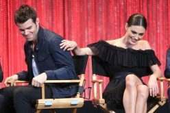 Actor Daniel Gillies (L) and actress Phoebe Tonkin speak during The Paley Center for Media's PaleyFest 2014
